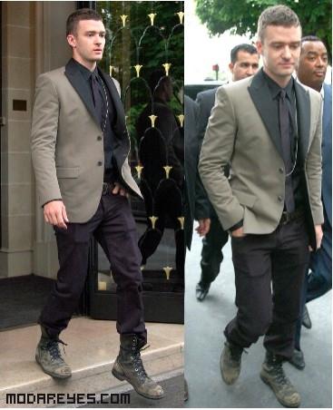 botas desgastadas para combinar con trajes