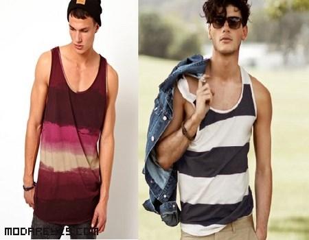 camisetas de efecto degradado para hombre