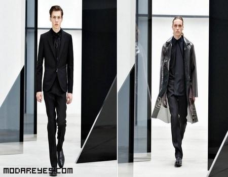 trajes en color negro