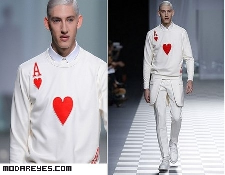 moda masculina en color blanco