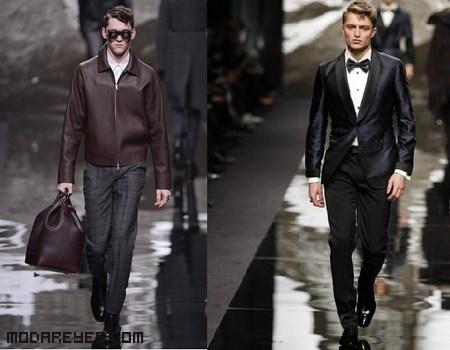 moda masculina con piel