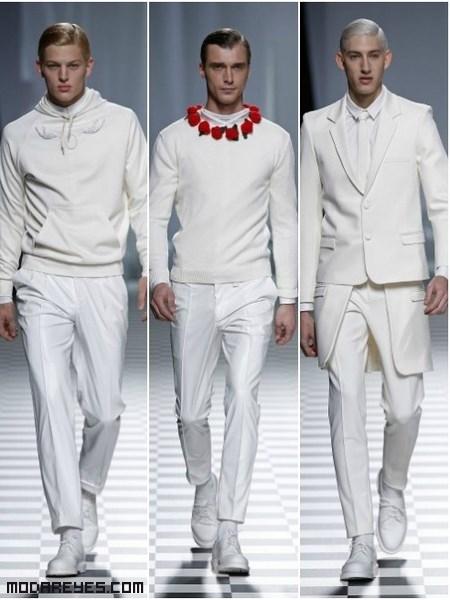 Pantalones blancos de moda