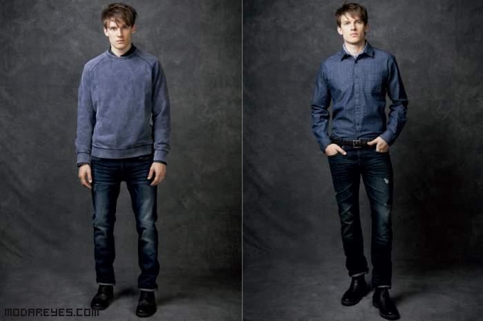 pantalones desgastados de moda