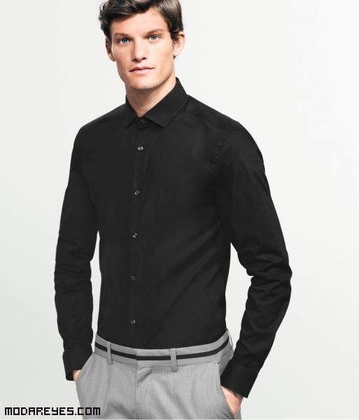 camisas de hombre en color negro
