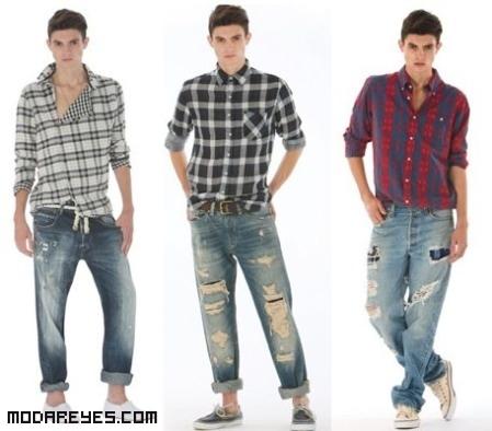 looks con jeans desgastados