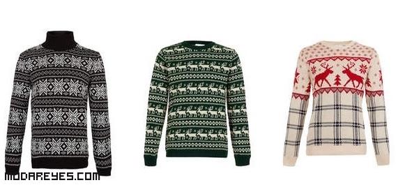 estampados de navidad en jerséis