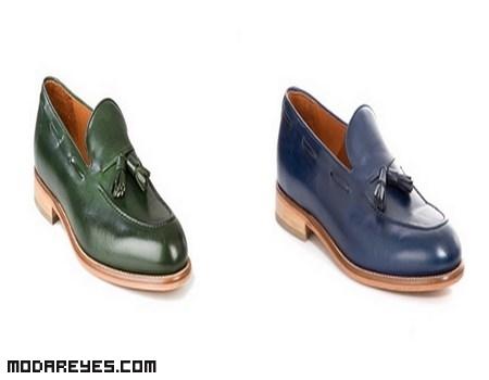 Zapatos de moda en colores