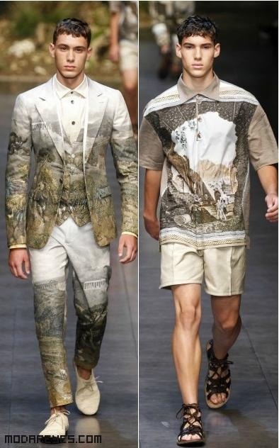 pantalones largos con estampados de Sicilia