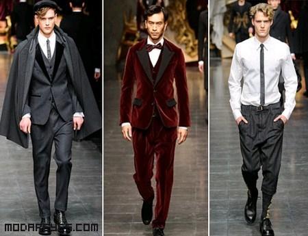 trajes clásicos para hombres