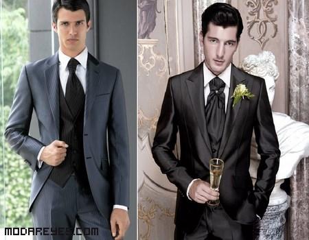 trajes modernos para novios con estilo