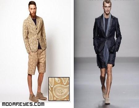 trajes estampados para hombre