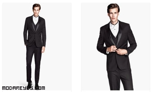 trajes modernos con solapas de raso
