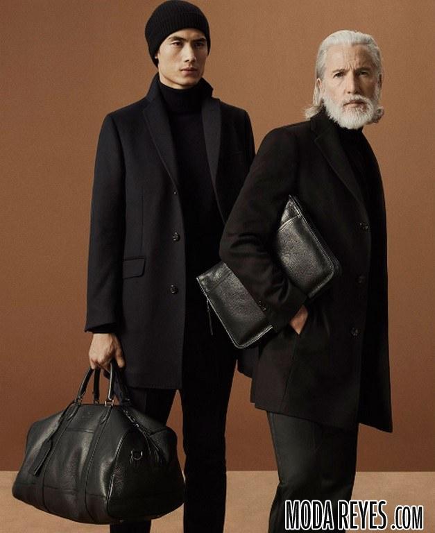 abrigos massimo dutti en color negro