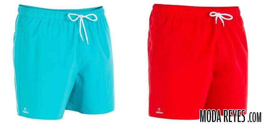 bañadores azul y rojo de decathlon