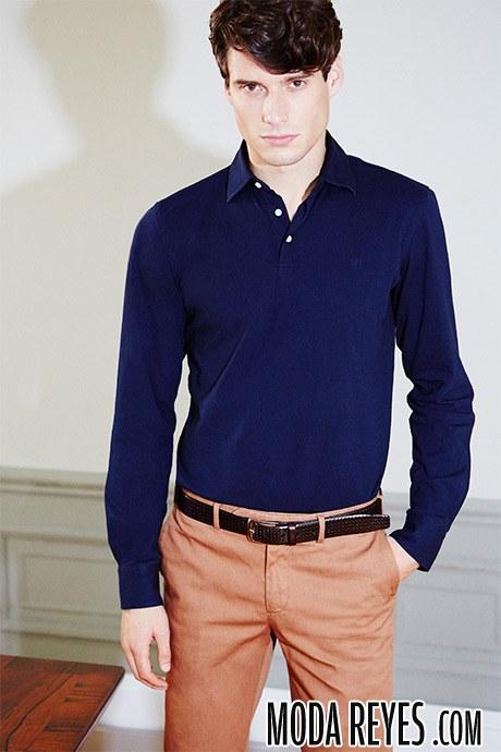 camisa en azul pedro del hierro