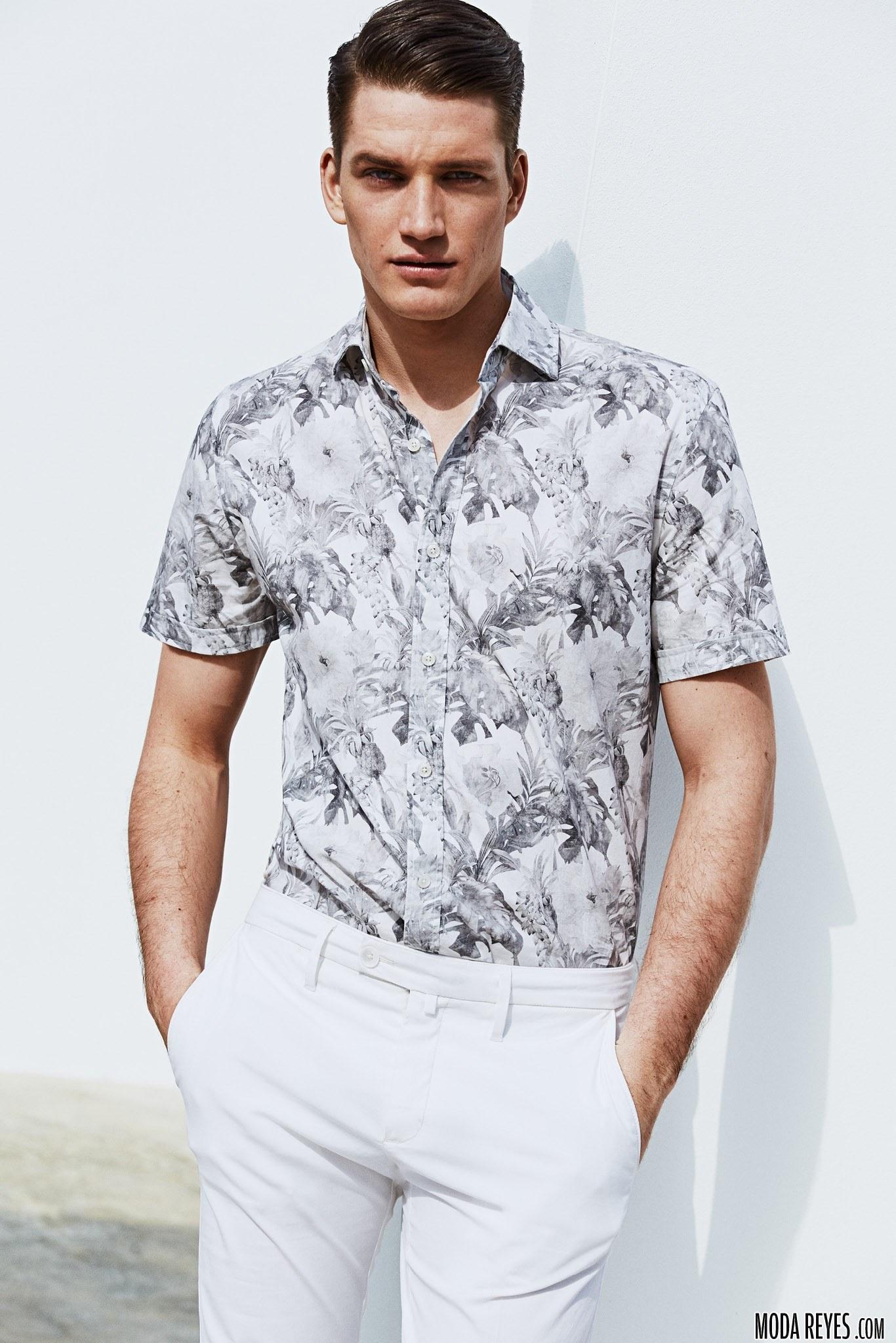 camisas estampadas de mango