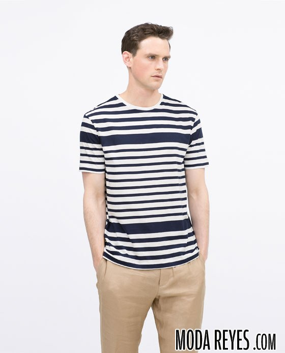 camiseta de rayas zara