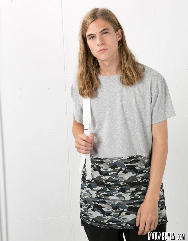camiseta estampada de bershka