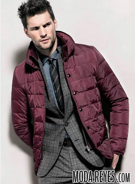 chaquetas acolchadas color marsala