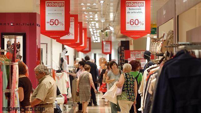 rebajas en centros comerciales