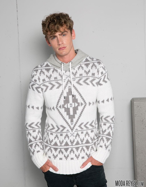 jersey con estampado étnico de bershka