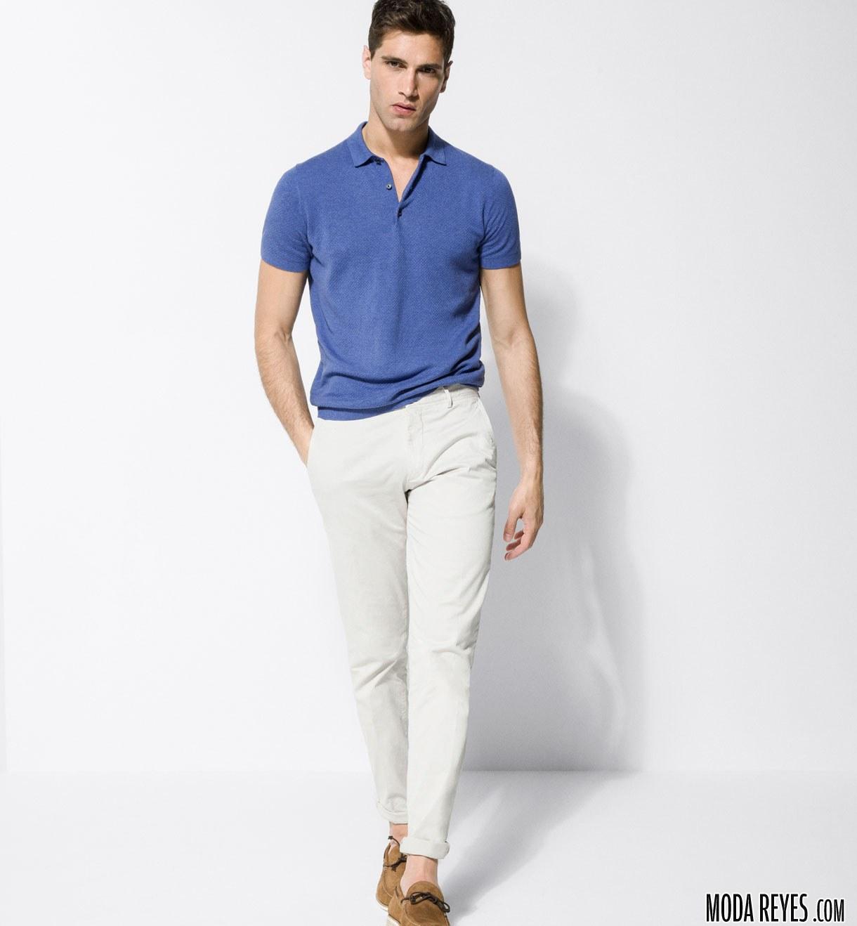 pantalón pitillo blanco con polo