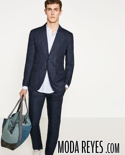 traje de lino pantalon largo