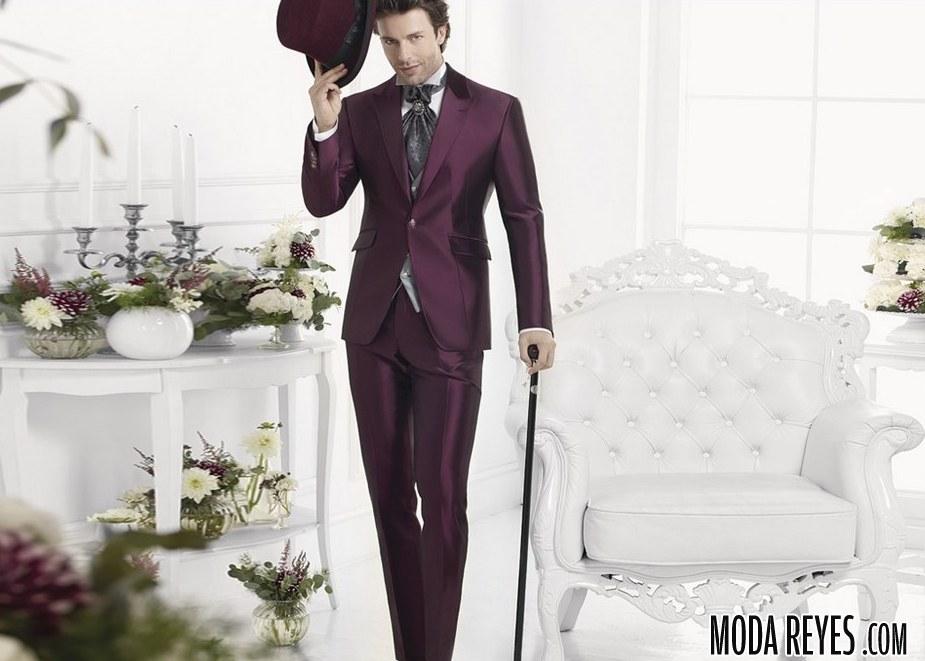 trajes de novio en color