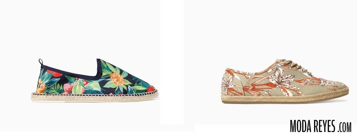 zapatillas florales Zara