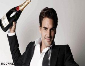 Roger Federer imagen de Moët & Chandon
