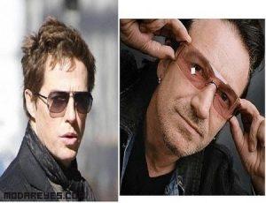 Famosos con diferentes estilos de gafas