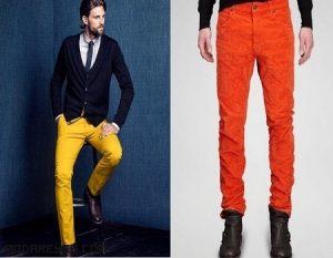 Jeans de colores también en otoño
